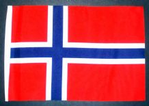 "NORWAY - SMALL BUDGET FLAG 9"" X 6"""